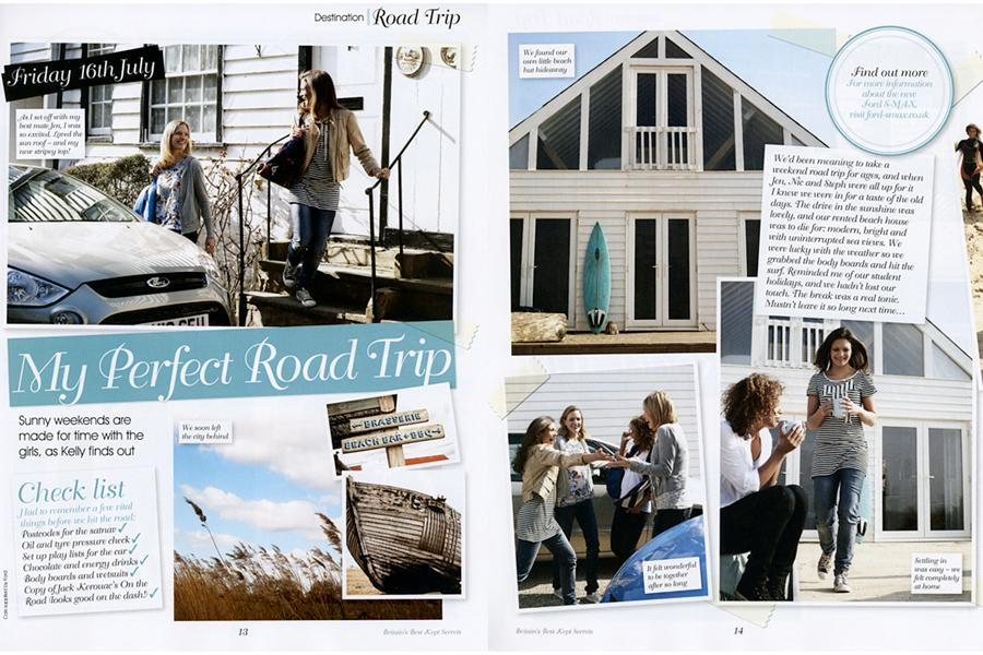 The Beach House - tearsheet for Ford (advertorial)