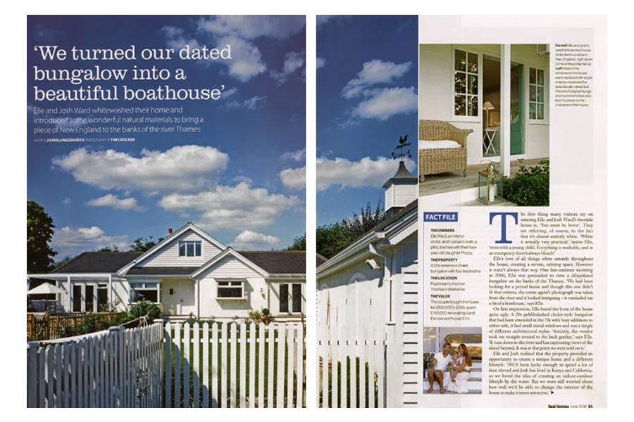 The Boathouse - tearsheet for Real Homes