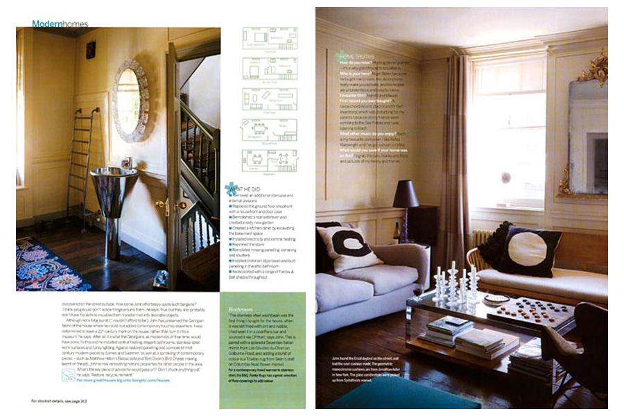 Fournier Street - tearsheet for Living etc