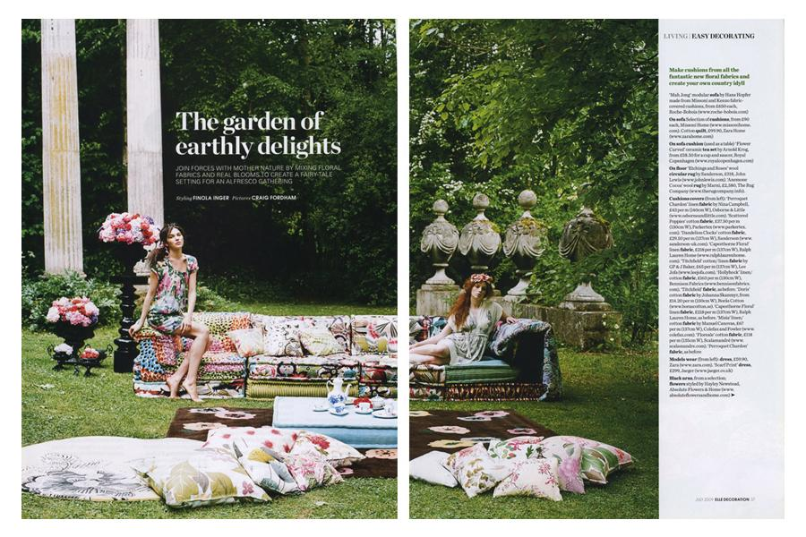 Harlow Garden - tearsheet for Elle Deco