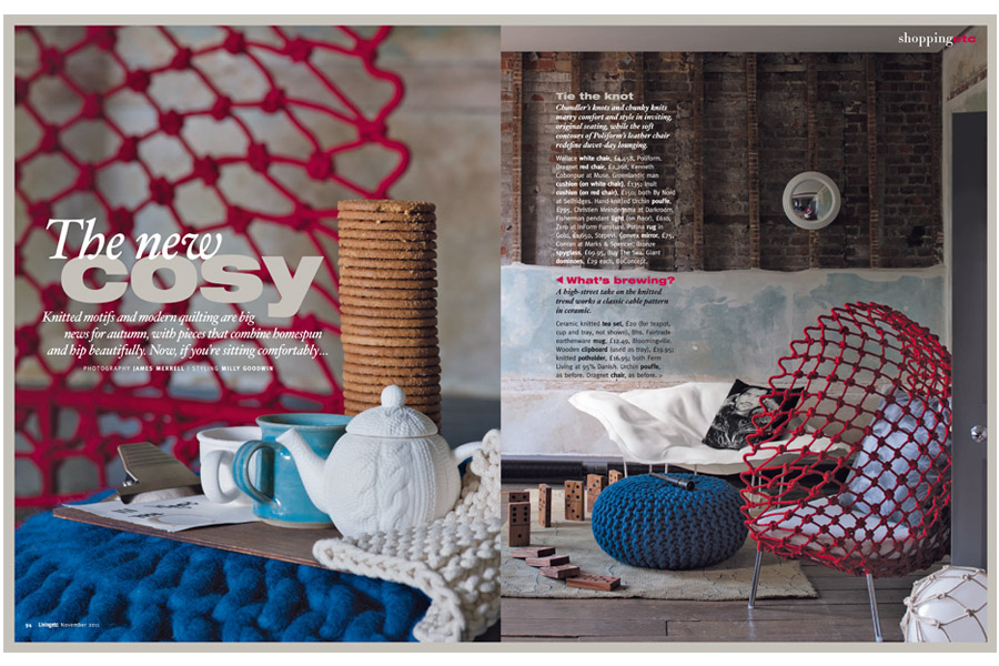Henry VIII Boathouse - tearsheet for Living etc