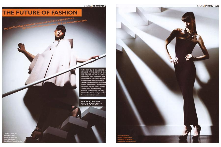 Lightbox - tearsheet for Grazia