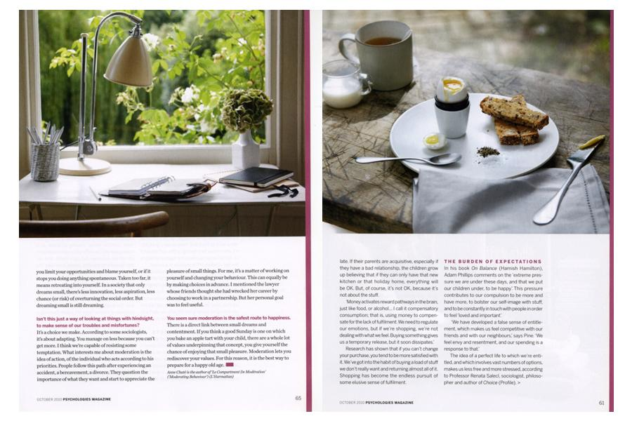 Stradella Road - tearsheet for Psychologies
