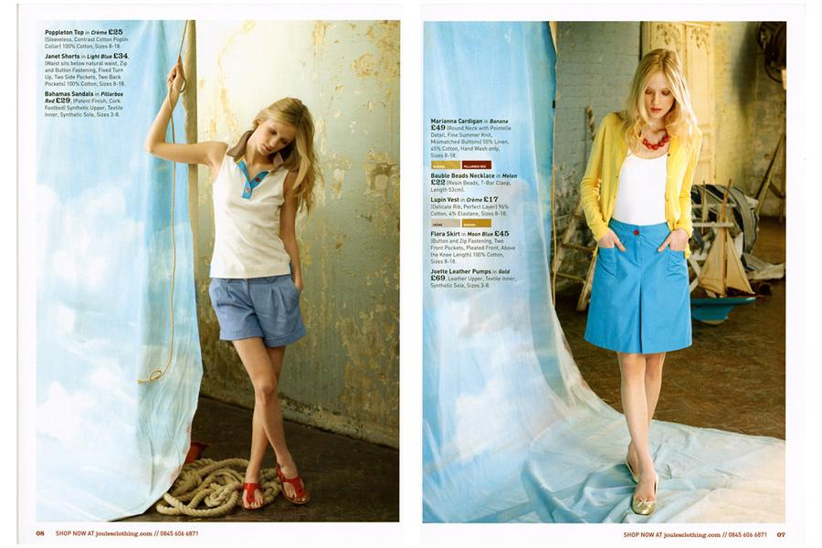 Studio East - tearsheet for Joules