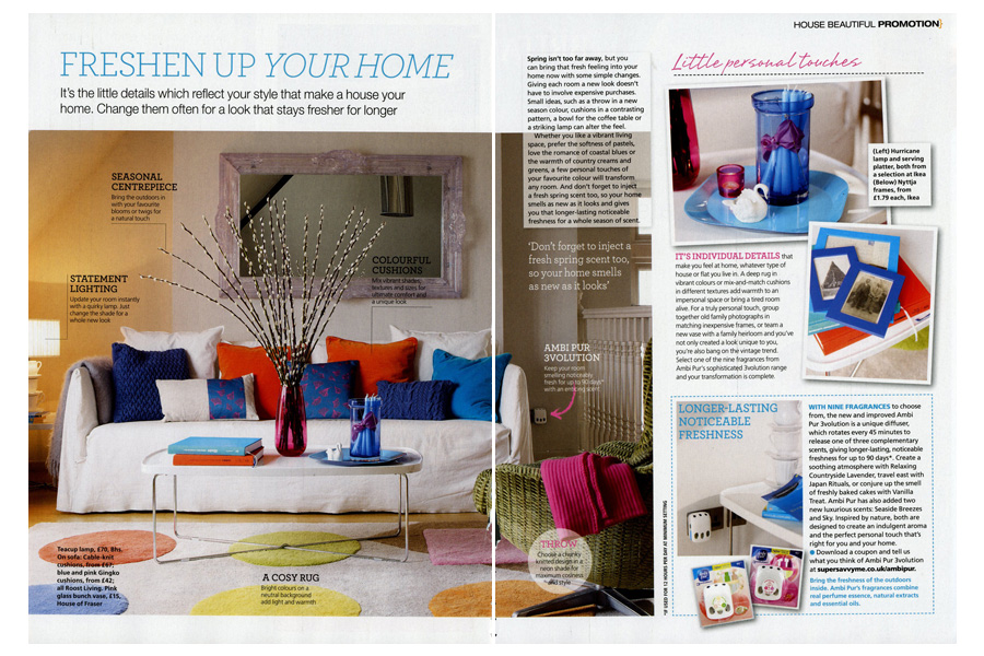 Ward House - tearsheet for House Beautiful